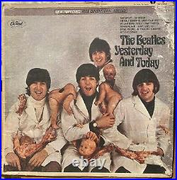 THE BEATLES BUTCHER COVER Yesterday And Today STEREO Framed Nice Peel