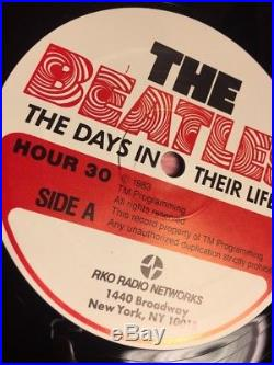 THE BEATLES Days in their lives VINYL 30 hr set 1983 RKO Radio Networks