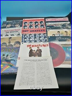 THE BEATLES EP COLLECTION Box 7 Red Vinyl 15 Disc EAS-30013-26 withGolden label