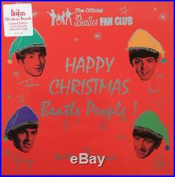 THE BEATLES'Happy Christmas Beatle People' 7x 7 Coloured Vinyl Box Set NEW