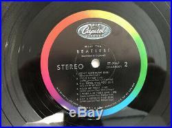 THE BEATLES-MEET THE BEATLES-1st PRESS STEREO NO CREDITS-VINYL 6.0, SLEEVE 5.0