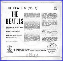 THE BEATLES No. 1 Original 1963 UK Parlophone FIRST PRESSING 4-track vinyl EP
