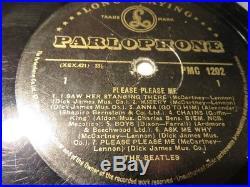 THE BEATLES'PLEASE PLEASE ME' 1st Pressing Gold/Black Label Mono Vinyl LP
