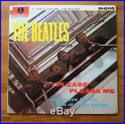 THE BEATLES PLEASE PLEASE ME UK VINYL LP 1st PRESS BLACK GOLD MONO PMC1202