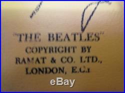 THE BEATLES RARE VINTAGE ORIGINAL 1960S VINYL WALLET WithCOIN HOLDER