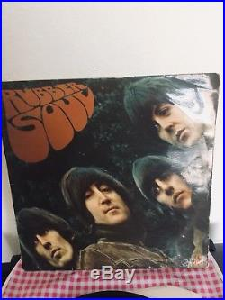THE BEATLES RUBBER SOUL FIRST 2-2 Pressing ORIGINAL VINYL LP STEREO 1965