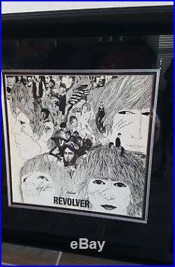 THE BEATLES SIGNED REVOLVER ALBUM VINYL LP WithCOA framed