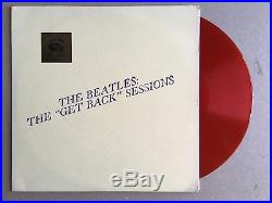 THE BEATLES The Get Back Sessions RED COLORED VINYL