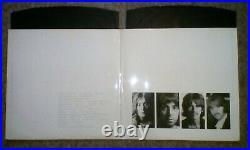 THE BEATLES The White Album Double Vinyl LP 1st Stereo UK photos & poster VG+/Ex
