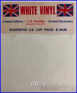 THE BEATLES -Ultra Rare SEALED White Vinyl UK Export Double Album (Vinyl Record)