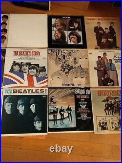THE BEATLES Vinyl LP's Capitol, Apple & VeeJay LOT of 22 LP's withOriginal Sleeves