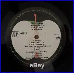 THE BEATLES WHITE ALBUM 1968 VINYL POSTER/LYRICS/PHOTOS No 039866