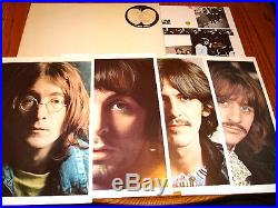 THE BEATLES WHITE ALBUM APPLE LABEL WHITE COLORED VINYL COMPLETE withINSERTS