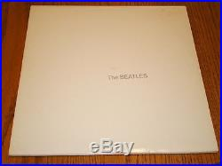 THE BEATLES WHITE ALBUM CAPITOL LABEL WHITE COLORED VINYL COMPLETE withINSERTS