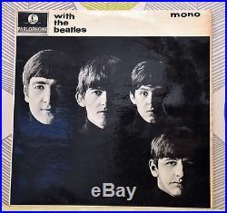 THE BEATLES WITH THE BEATLES 12 Inch Vinyl Album 1963 PMC 1206 XEX 447-7N EXC