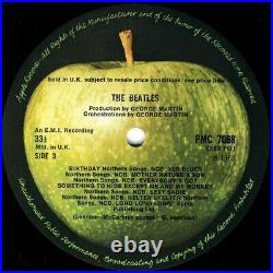 THE BEATLES White Album 1968 UK FIRST PRESS 30-track MONO double vinyl LP