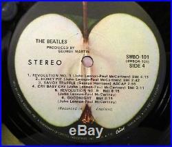THE BEATLES White Album (1968) Vinyl, LP Apple SWBO 101 Low Number #0085006