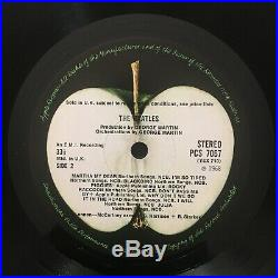 THE BEATLES White Album 1st COMPLETE SPACER 1/1/1/1 PCS 7067/8 APPLE VINYL 2LP