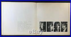 THE BEATLES White Album RARE SPACER UK ORIGINAL INSERTS STEREO APPLE VINYL 2LP