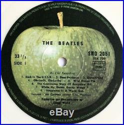 THE BEATLES -White Album- Rare Original French White Vinyl LP (Vinyl Record)