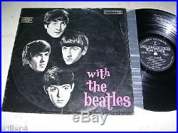 THE BEATLES With The Beatles MEGARARE 1st PRESS SILVER/BLACK PARLOPHONE VINYL
