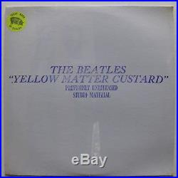 THE BEATLES Yellow Matter Custard FACTORY SEALED Colored Vinyl TMOQ
