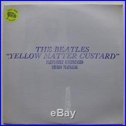 THE BEATLES Yellow Matter Custard FACTORY SEALED Colored Vinyl TMOQ