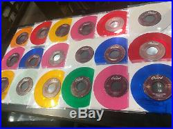 THE BEATLES lot of 18 capitol JUKEBOX 45s colored vinyl! Nice collection! RARE