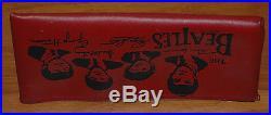 The BEATLES Original Vintage Red Vinyl Zipper Pencil Case NEMS Ltd
