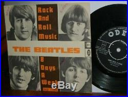 The BEATLES Rock and Roll ULTRA RARE Norwegian sleeve PS vinyl picture sleeve 7