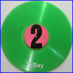 The BEATLES Yellow Matter Custard ORG GREEN Vinyl TMOQ LP VG++