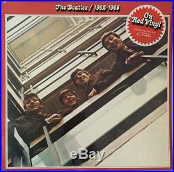 The Beatles 1962-1966 2-lp Apple Uk Red Vinyl 1978 Near Mint Pro Cleaned