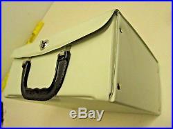 The Beatles 1964 NEMS Vinyl lunch box Kaboodle Kit Extra Pristine! Beige Superb