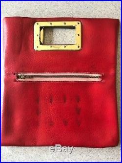The Beatles 1964's Red Vinyl Handbag Purse Vintage