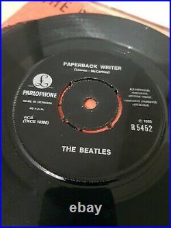The Beatles 6 x 7 Single Vinyl Extremely Rare Danish 1st Pressings 1965