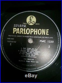 The Beatles A Hard Day's Night Vinyl 12 1st Press G&L Sleeve PMC 1230 1964 Ex