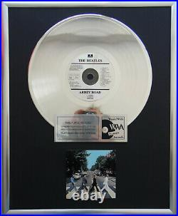 The Beatles Abbey Road CD/Cover gerahmt +12 Deko goldene Vinyl Schallplatte