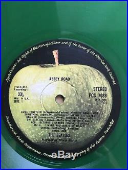 The Beatles Abbey Road Green Vinyl UK VGC YEX 49/50+Free Million Sellers 7 Disc