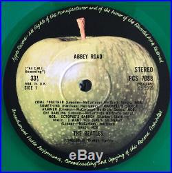 The Beatles Abbey Road Lp Apple Uk Green Vinyl Export 1978 Nr Mint Pro Cleaned