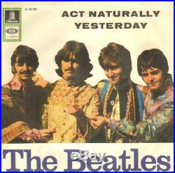 The Beatles Act Naturally / Yesterday HIPPIE COVER Vinyl Single 7inch