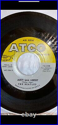 The Beatles Aint She Sweet Nobodys Child ATCO 6408 VG+ Vinyl 45rpm
