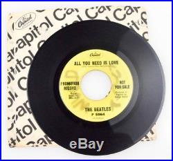 The Beatles All You Need Is Love Promotional Promo 45 rpm P 5964 Vinyl VG+