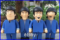 The Beatles Can't Buy Me Love PVC Vinyl 28cm Action Figures 4 in 1 Full Set