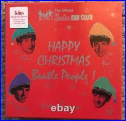 The Beatles Christmas Records Sealed Box Set 7 Vinyl Rare Oop Paul Mccartney