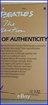 The Beatles Collection MFSL Half Speed Mastered Box Set # 11972 Super Vinyl 1982