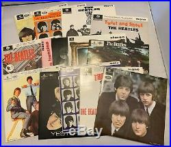 The Beatles EP Collection BEP14 Blue Box 1981 UK Edition Vinyl 15X 45 RPM
