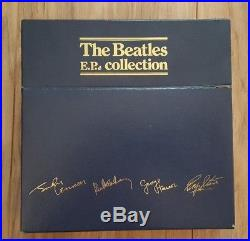 The Beatles+ EP Collection Blue Box UK BEP-14 + Vinyl Records+ NM+1981