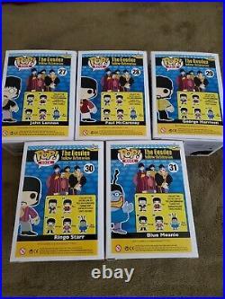 The Beatles Funko Pop Set 5 Figures Yellow Submarine! #27, 28, 29, 30, 31