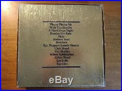The Beatles GOLD Box Set 15x Vinyl LP Records Limited Edition BC13 Inc COA NM/M