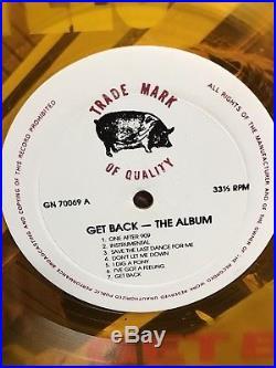The Beatles Get Back 12 Vinyl LP Apple Records Rare Collectible Colored Vinyl